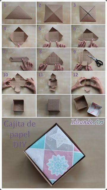 Cajita de papel DIY para regalos by IdeandoArt