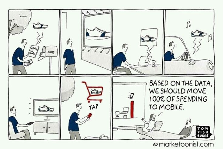 A witty cartoon that makes you think! #DigitalMarketing #MobileCommerce