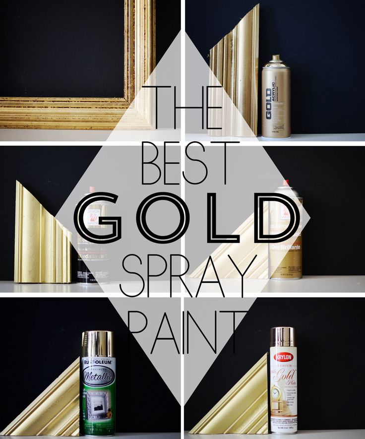 gold spray paint round up