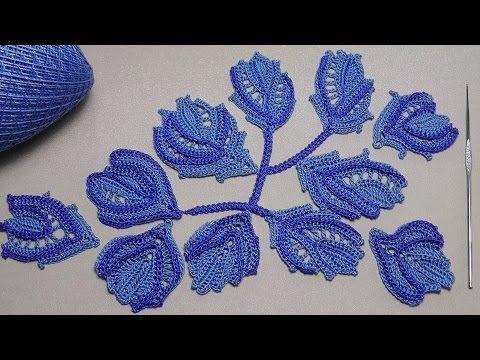 УРОК ВЯЗАНИЯ крючком. Цветы вязаные.Ирландское кружево.Crochet flower. - YouTube