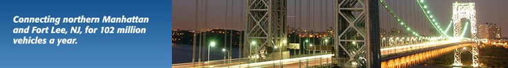 photo of George Washington Bridge at night