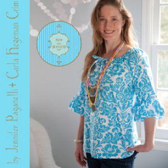 Devon Peasant Top/Dress for Women - Sizes XS(0-2)-3X(26W) | YouCanMakeThis.com  Pattern $9.95.