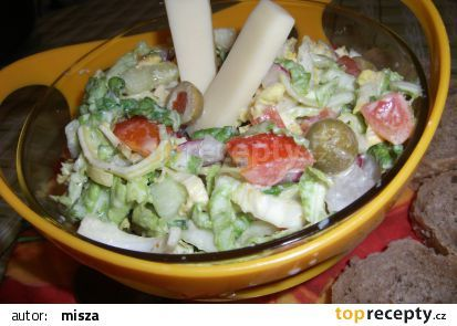 Zeleninový salát s Cottage recept - TopRecepty.cz