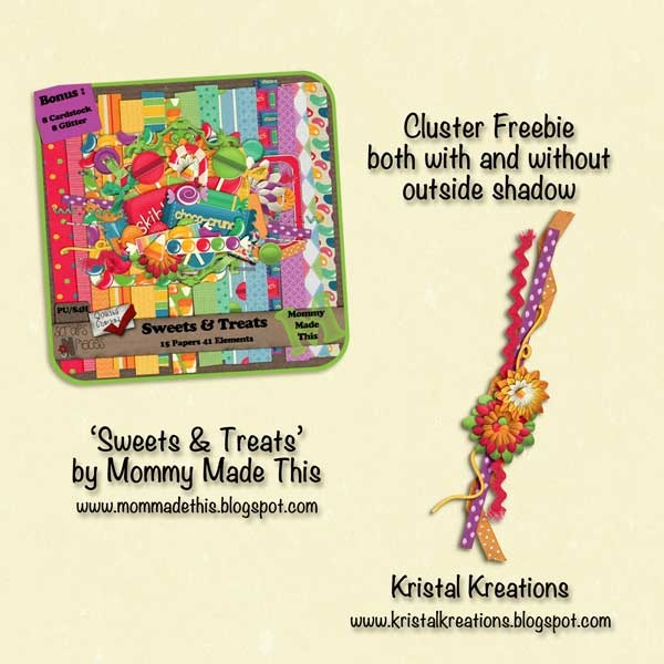 Scrapbooking TammyTags -- TT - Designer - Kristal Kreations,  TT - Item - Border, TT - Style - Cluster, TT - Element - Flower