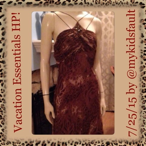 Plus Size Animal Print Party Dress for wild times! Brand New Lane Bryant party dress! spaghetti straps and beautiful embellishment  Never worn, special collection item sold for $99. Perfect for a date night! Super sexy and flattering.  It's a small 14.  Bring out the animal in you !!PRICE IS FIRM. Lane Bryant Dresses