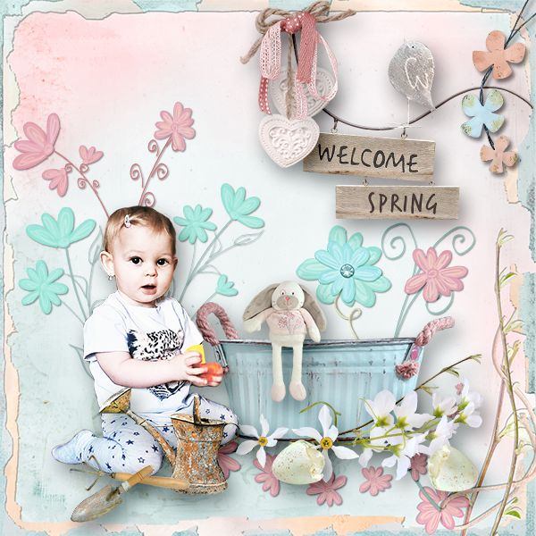 *Welcome Spring* by MiSi Scrap  http://www.digiscrapbooking.ch/shop/index.php…
