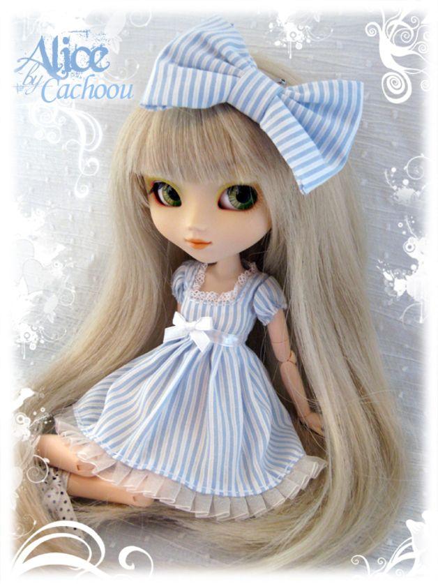 blythe alice in wonderland   Robe dress Pullip Alice In Wonderland Blue