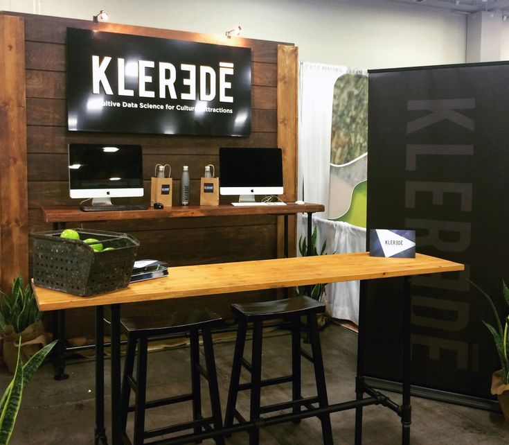 Klerede Tradeshow Booth Reclaimed Wood And Pipe Tables Functional Rustic Easy To Take