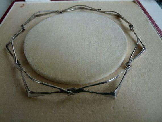 Tone Vigeland links necklace for Plus by VintageDesignSilver