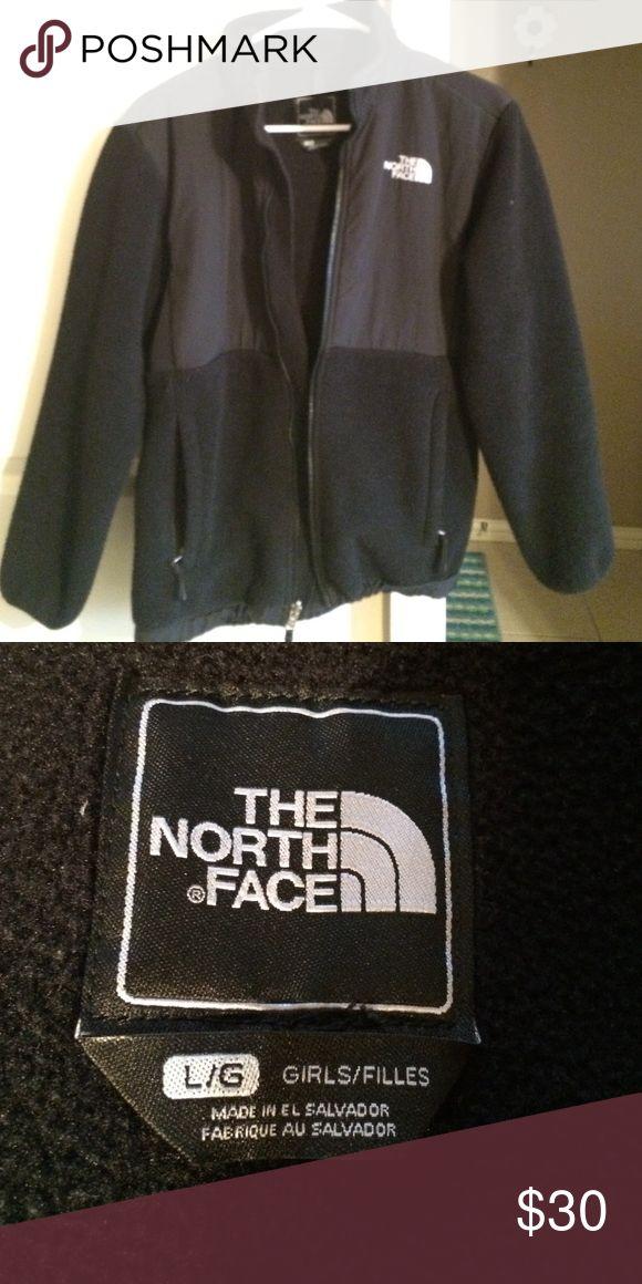 black north face jacket girls large black north face coat North Face Jackets & Coats Puffers