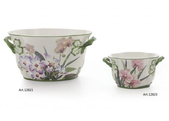 Jardineras de cer mica ovaladas orchidee comprar for Jardineras de ceramica