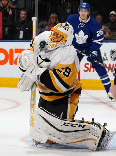 Maple Leafs vs. Penguins - 12/17/2016 - Pittsburgh Penguins - Photos DECEMBER 17: Marc-Andre Fleury #29 of the Pittsburgh Penguins makes a save against the Toronto Maple Leafs