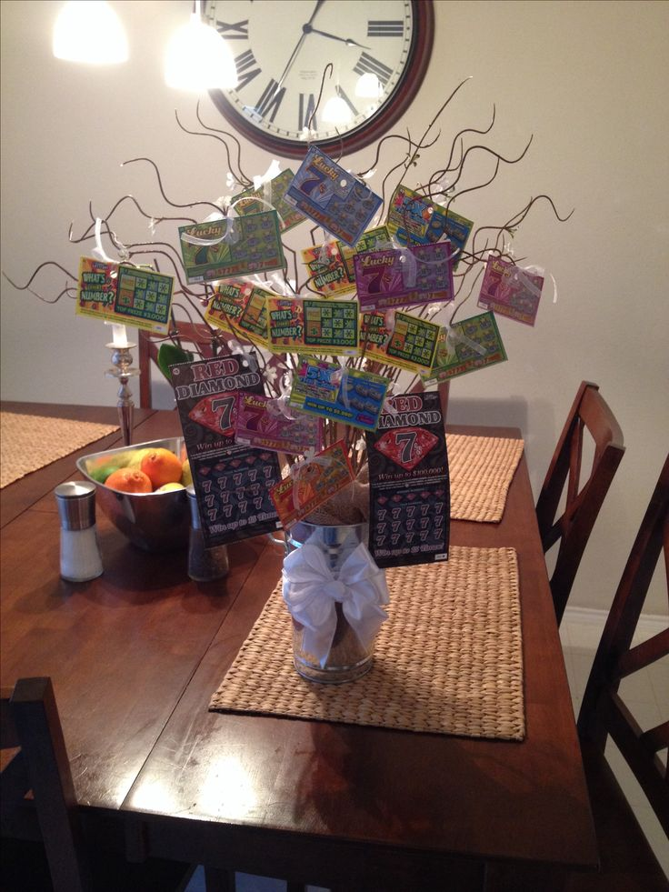 Lottery ticket tree/gift/raffle