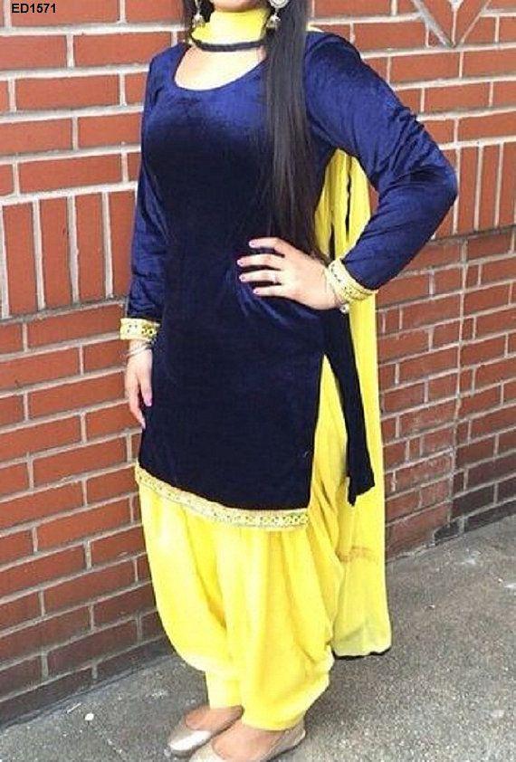 Royal Evening Partywear 2015 Patiyala Dress by Ethnicdresses