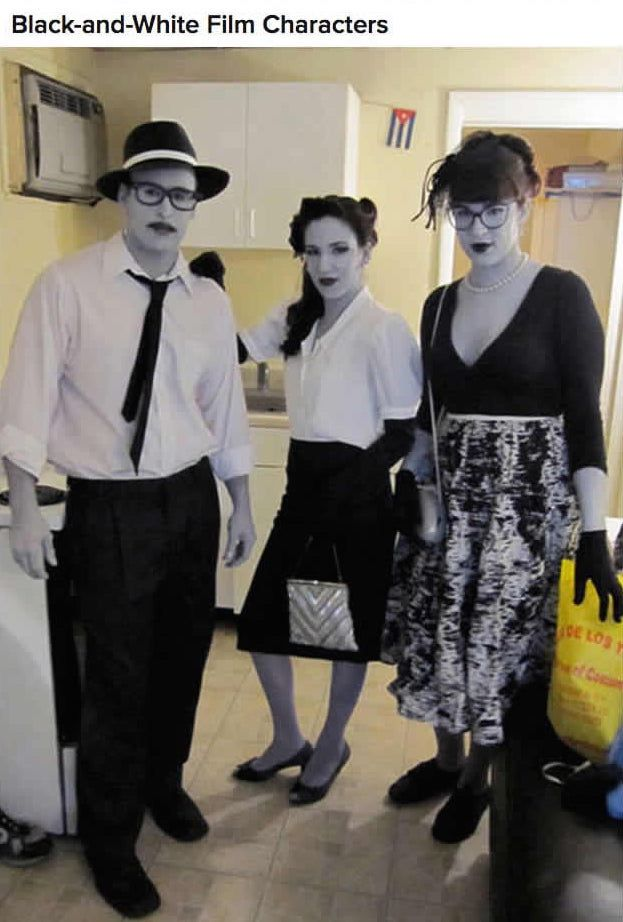 3dda45768 costumes: black & white film noir characters | Holiday : Halloween ...