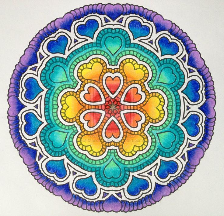 I Heart Rainbows collaboration with E1Duchess by Mandala-Jim.deviantart.com on @deviantART