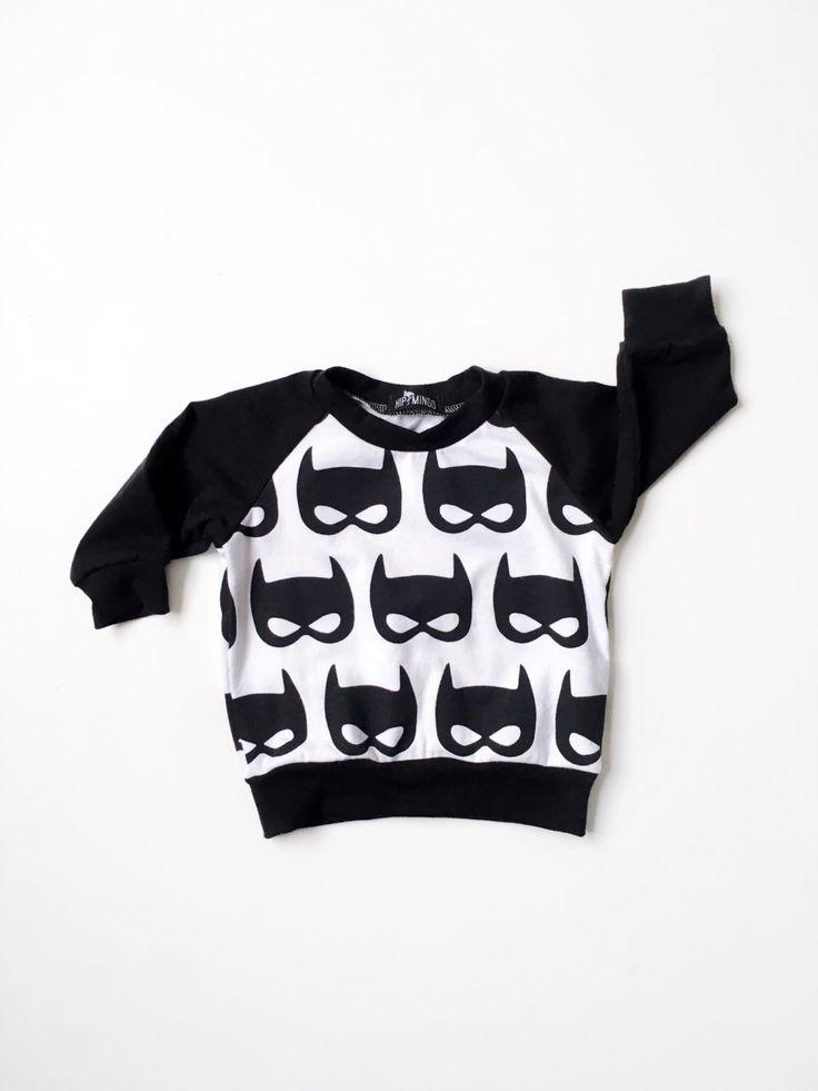 Baby Batman Shirt, Toddler Superhero Pullover Sweatshirt, Boy Batman Raglan, Baby Gift, Toddler Gift, Boy Gift, Trendy Baby Clothes by HipMingo on Etsy https://www.etsy.com/listing/480548914/baby-batman-shirt-toddler-superhero
