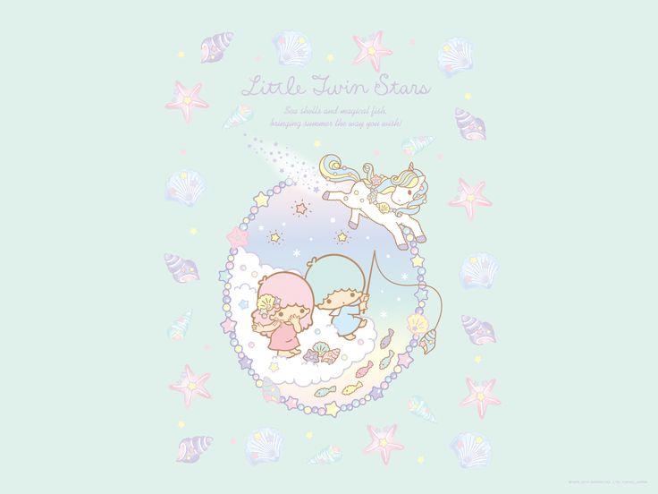 Little Twin Stars Wallpaper 2014 八月桌布 日本草莓新聞