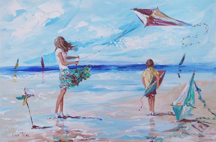 ''Kite flyers''-Lorna Miller