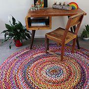 Chindi Rug   Indian Floor Rug   Round Medium/Large   Recycled Mats