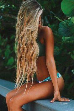 I want her hair - skin - bikini - body - yep