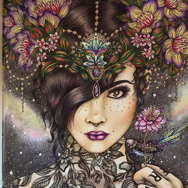完成しましたぁ〜〜 #coloriage #coloringpage #coloringforadults #hannakarlzon #ハンナカールソン#コロリアージュ#大人の塗り絵#塗り絵#ぬりえ#coloringbook #色鉛筆#ホルベインアーチスト#ホルベイン#ファーバーカステルポリクロモス#ファーバーカステル#宇宙#colorpencil #colorful #coloring #colorfull #花#space #flower #flowers #art#coloringart#sommarnatt