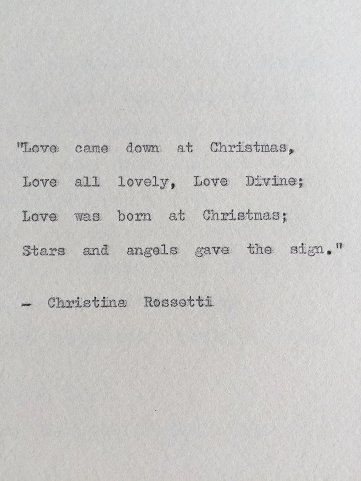 Christina Rossetti Christmas Typewriter Quote by BookishGifts on Etsy