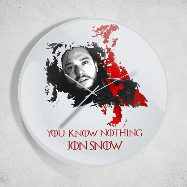 Game of Thrones You Know Nothing Jon Snow Duvar Saati Zet.com'da 49.90 TL