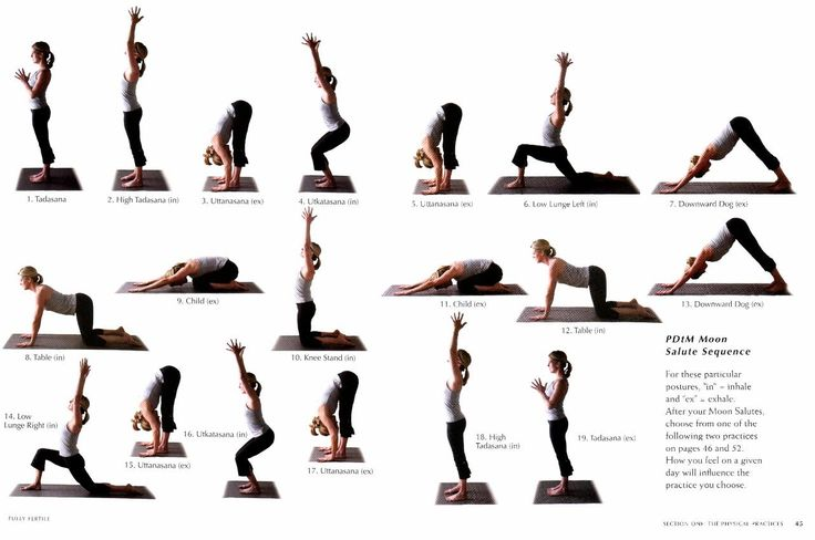 """The Moon Salute, taken from our book """"Fully Fertile"""" is a good warm up for any fertility yoga practice."""