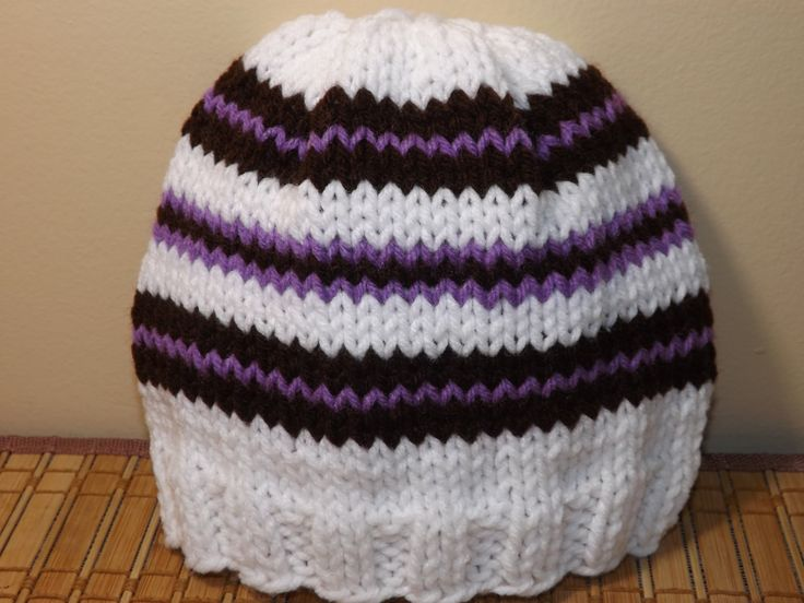 Knitting Patterns For Long Hats : How to Knit a Hat Its almost 30 minutes long but she goes through t step...