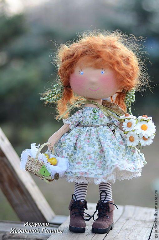 Купить Рыжулька))) - салатовый, кукла ручной работы, кукла, подарок, подарок девушке, рыжий