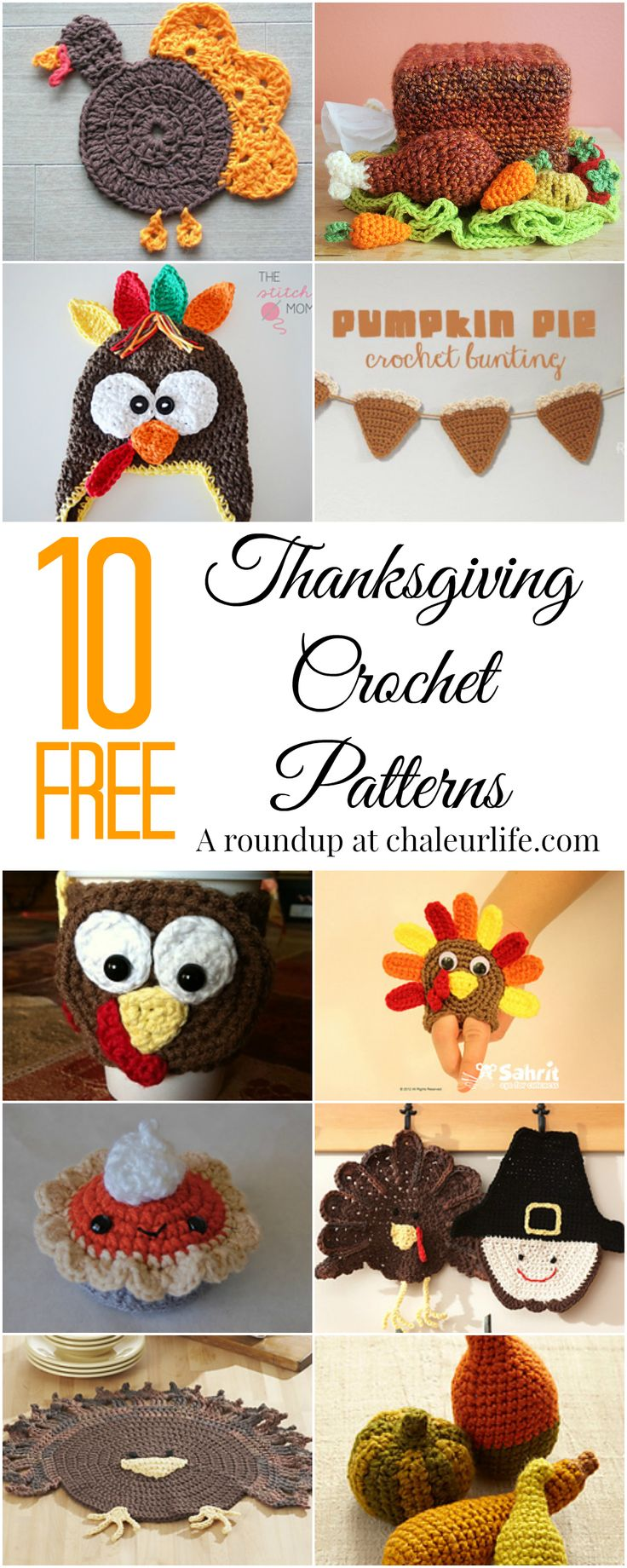 10 Free Thanksgiving Crochet Patterns | Chaleur Life