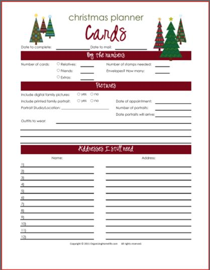 25 best ideas about Email christmas cards – Christmas Card List Template