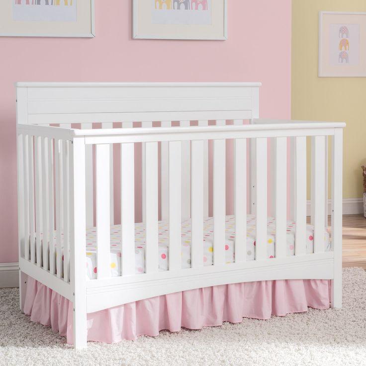 Delta Children Fabio 4-in-1 Convertible Crib, Bianca (Standard Crib), White