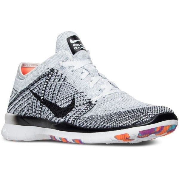 Nike Women's Free Tr Flyknit Training Sneakers from Finish Line ($130) ❤ liked on Polyvore featuring shoes, sneakers, flyknit sneakers, flyknit trainer, training sneakers, flyknit shoes and nike trainers