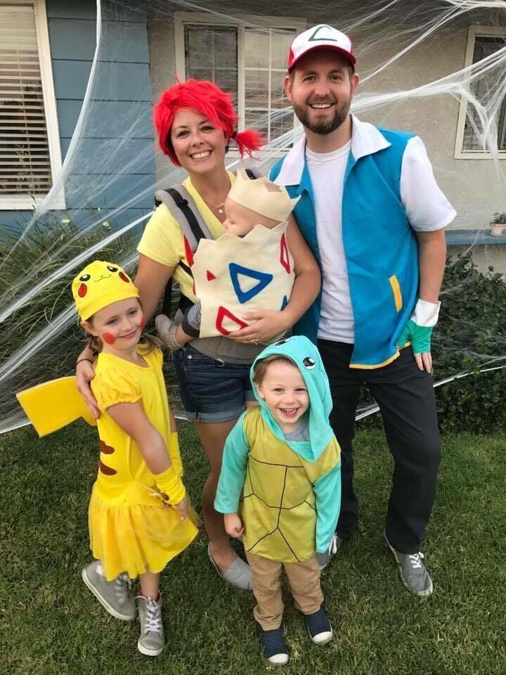 987f2c051d68b Pokemon family babywearing costume. Baby carrier costume! | halloween  costumes in 2019 | Pikachu halloween costume, Family halloween costumes,  Pregnant ...