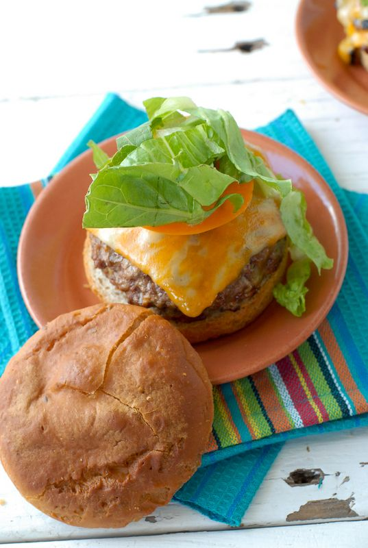 ... Taco Burger recipe. Loaded with guacamole, refried beans, chilies