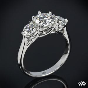 shopping handbag 18k White Gold 34Butterflies34 3 Stone Engagement Ring Setting Only