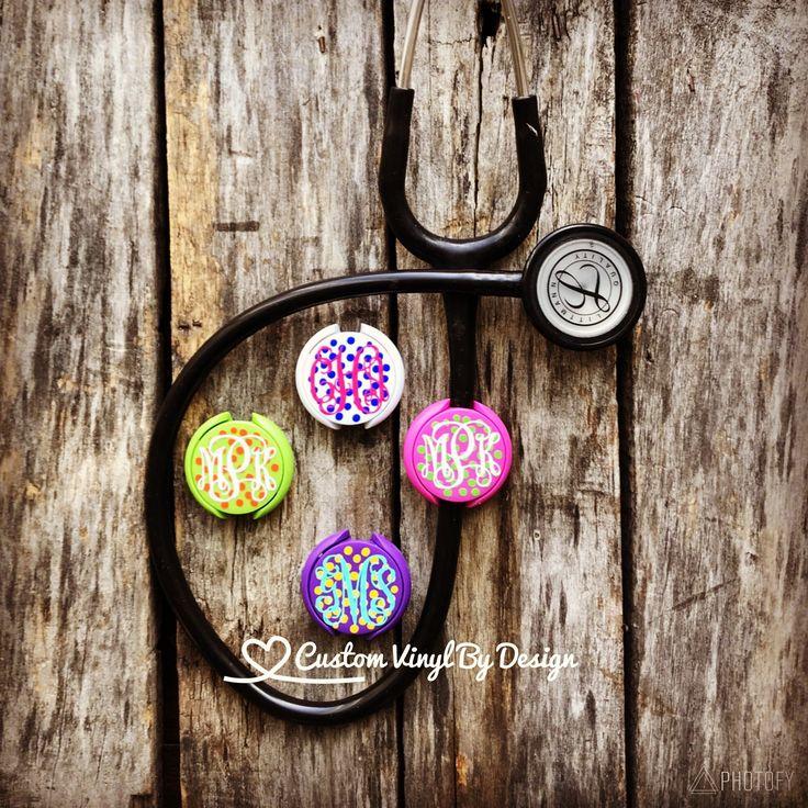 Personalized Stethoscope ID Tag - Polka Dot