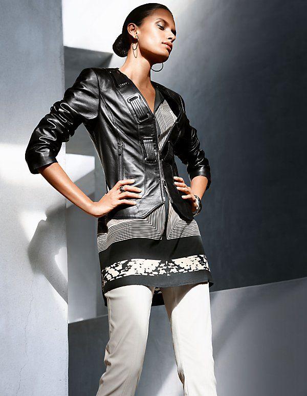 Kurze Lederjacke aus Lammleder   Madeleine Mode Schweiz