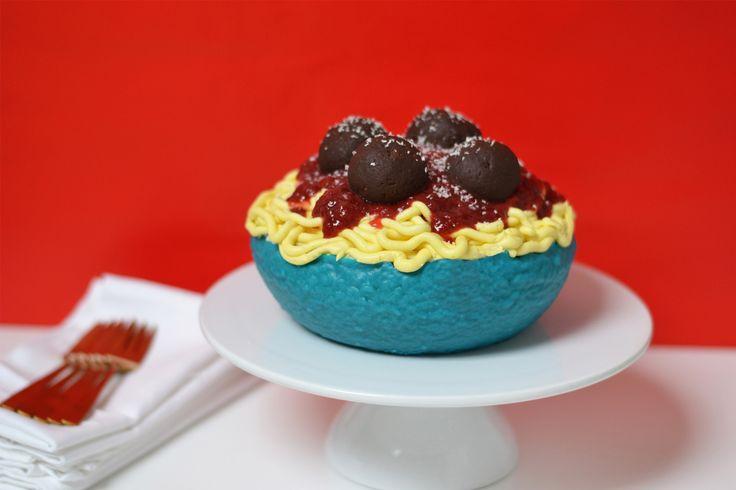 Cake-a-Like: Spaghetti and Meatball Cake