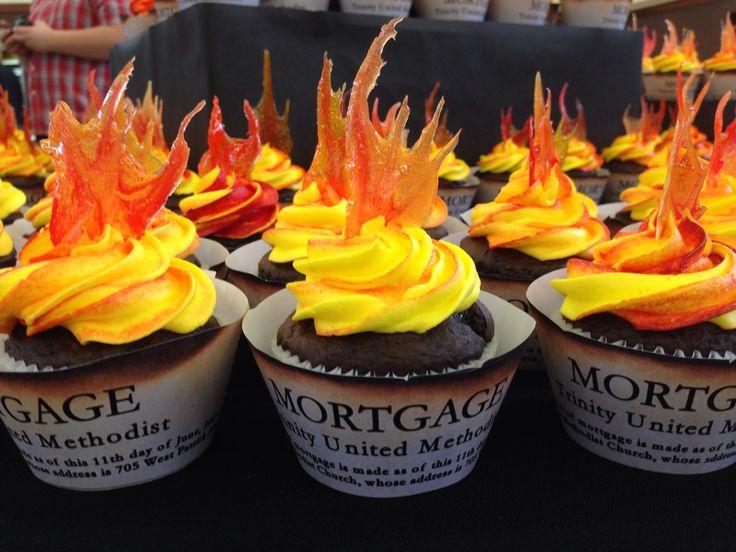 Mortgage Burning Celebration Cupcakes Party Ideas