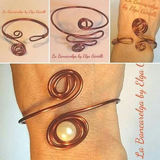 """Bracciali in rame realizzati a mano  Visita la pagina Facebook """"La Bancarelga by Elga Gioielli"""" #gioielli #jewels #fattoamanoinitalia #fashion #handmade #madeinitaly #artigianato #madewithlove #madewithlove #fashion #earrings #orecchini #pezziunici #cristal #cristalli #rame #copper #bracelet #bracciali #ciondoli #collane #ciondolo #necklaces #necklace #perle #perline #pendant #orecchini #earrings #pearls #pearl #bracciale #braccialidonna"""