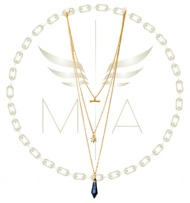 Collar dorado triple by Mery Angel accesorios #moda #diseño #accesorios #estilo #chain #collar #brillo #trendy #bogota #colombia