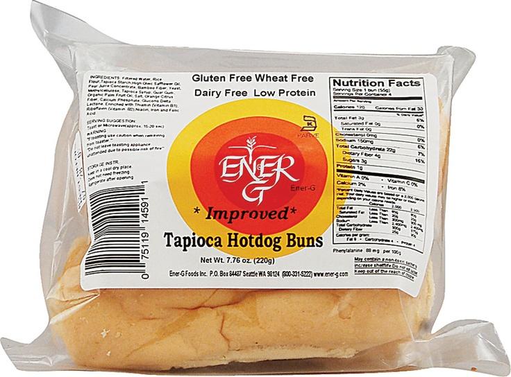 Ener-G Tapioca Hotdog Buns Gluten Free