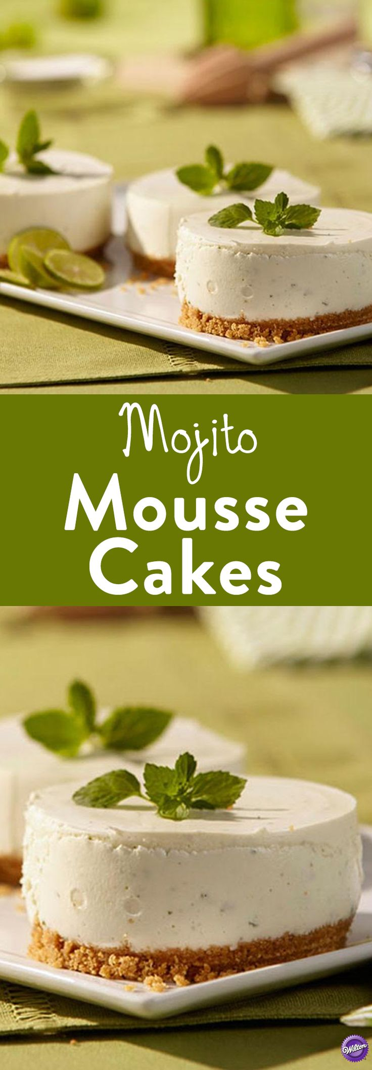Mojito Mousse Cakes Recipe - Have your cake-tail and eat it, too with a mini mojito mousse cake. Start with rum, lime and aromatic mint for classic mojito flavor. Great to serve especially for summer celebrations!