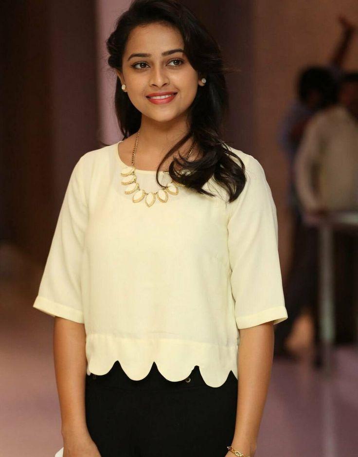 Actress Sri Divya Cute Stills In White Dress | Sri Divya: WoodsDeck