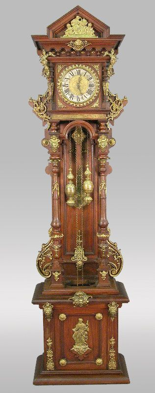 An ornate Austrian / German grandfather clock