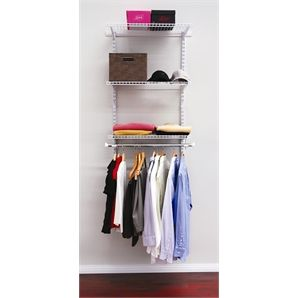 Clever Closet 1.2m White Wardrobe System   Bunnings Warehouse