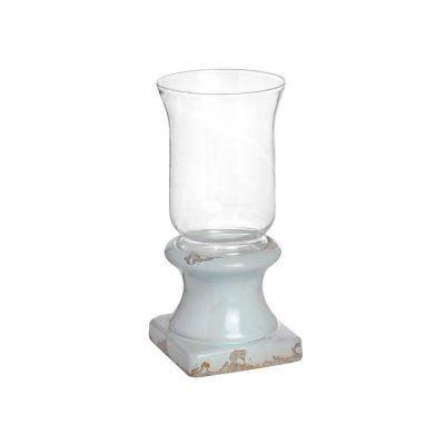 Rustic Ceramic Base Hurricane Lamp